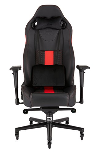 CORSAIR CF-9010008 WW T2 ROAD WARRIOR Gaming Chair Comfort Design, Black/Red