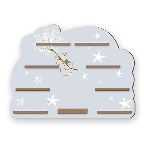 Kreative Feder Regal für die Musikbox und Figuren Musikboxregal mit schönen Motiven 55x41cm (kleine Maus)