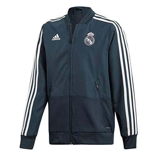 adidas Kinder Real Madrid Trainingsjacke, tech Onix/Black/Core White, 152