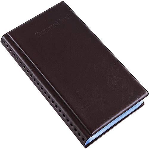 Tenfel 名刺ホルダー レザフェス 名刺ファイル 180枚収納 大容量 オフィス用 名刺入れ ポイントカードケース カードホルダー