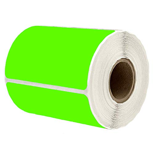 """2"""" x 3"""" Green Rectangle Color Coding Labels - Square Color-Code Stickers Permanent Adhesive, Write-On Surface - 250 Labels/per Roll"""