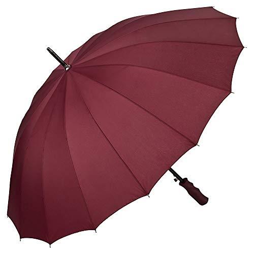 VON LILIENFELD® Regenschirm XXL Sturmfest Auf-Automatik 2-Personen Colin Bordeaux