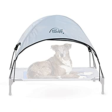 K&H Pet Products Pet Cot Canopy Large Gray 30  x 42  (Cot Sold Separately)