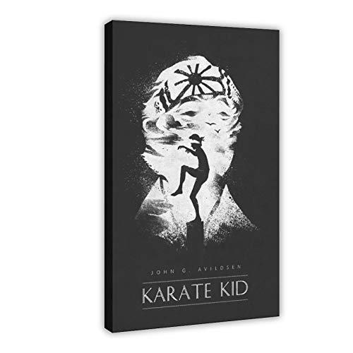 Filmposter The Karate Kid Leinwand-Poster, Wandkunst, Dekor, Bild, Gemälde für Wohnzimmer, Schlafzimmer, Dekoration, Rahmen: 50 x 75 cm