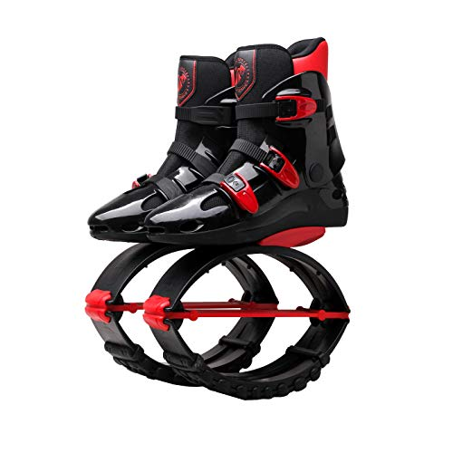 Unisex Kids Adults Anti-Gravity Running Boots Fitness Bounce Shoe Jumping Shoes 60-240 LBS. Black/Red