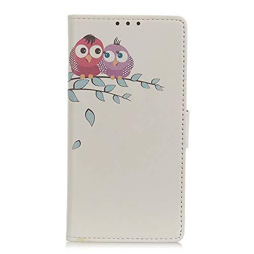 TYWZ Brieftasche Hülle für Xiaomi Mi 10T Lite,Kreativ Muster PU Leder Flip Handyhülle Standfunktion Tasche Kartenfach Etui Wallet Lederhülle Case-Owl