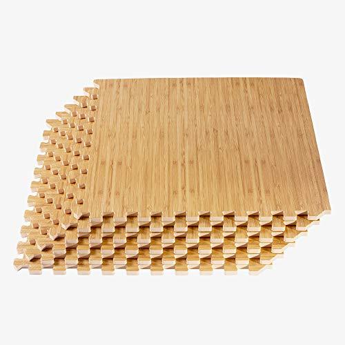 FOREST FLOOR Thick Printed Foam Tiles, Premium Wood Grain Interlocking Foam Floor Mats, Anti-Fatigue Flooring, 3/8\