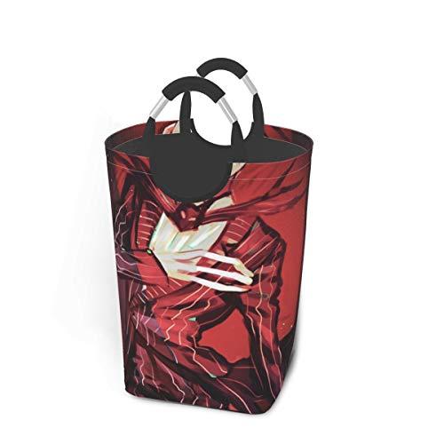 Black Butler Halloween Vampire Gentleman Japan Animelarge Laundry Basket Bag with Handle for Washing Dirty Laundry, Foldable Dirty Laundry Basket Can Be Folded for Storage