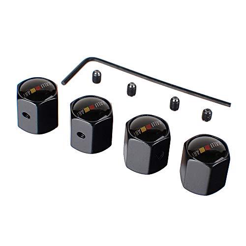 4 Piezas Tapas para Válvulas de Neumáticos para Mitsubi-Shi Ralliart ASX Outlander Lancer Pajero Eclipse con logotipo, con chiave a L, Tapa de Válvula de Neumático Tapa Anti-Polvo de Rueda de Coche