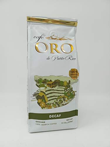 Cafe Oro Puerto Rican Coffee - Decaf - Ground Coffee- 100% Arabica Coffee