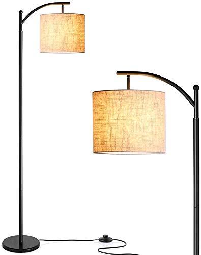 Zanflare Lampada da Terra, Lampada da Terra Moderna con una 9W lampadina LED, Adottando il Paralume in Lino, Lampada da Terra Classica per Soggiorno, Camera da Letto, Ufficio, ecc
