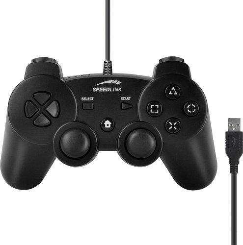 Speedlink Strike FX Gamepad Controller für die Playstation 3/PS3 (Vibrationsfunktion, bis zu 8 Stunden Spieldauer) schwarz