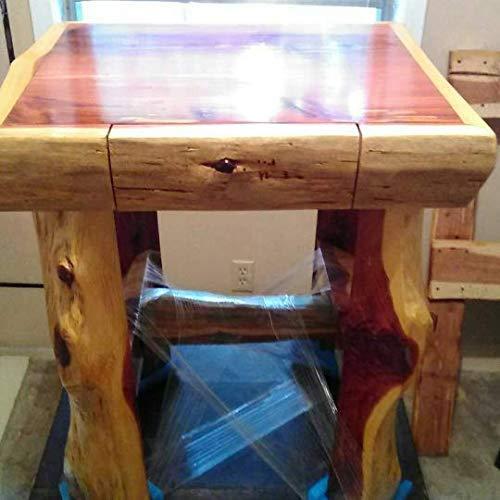 Handmade Cedar log frame End Table with drawer