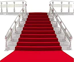 """Sexyrobot Fabric Oscar Party Movie Night Hollywood Red Carpet Style Wedding Aisle Runner, for Step and Repeat Display, Ceremony Parties and Events Indoor or Outdoor Mother's day Decoration,48""""by 66'"""