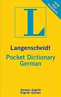 Langenscheidt Pocket Dictionary German: German-english English-german