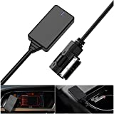 Weletric AMI MMI MDI Interface Bluetooth 5.0 Audio Music Input Adapter AUX Receiver Cable Adapter for Audi Q5 A7 S5 Q7 A6 A8 (for MMI 3G Only) (Black)