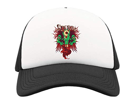 Generic Sinful Eye Zombie Hand Art Half Mesh Trucker Cap Baseball Hut Snapback One Size