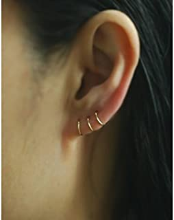 14k Yellow GOLD FILLED Cartilage hoop earring, 22Gauge,Tiny Cartilage Ring,Helix,Tragus,Ear Lobe,Nose Ring,Septum Ring,piercing earring / price per one item