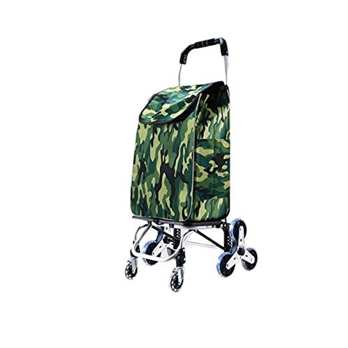Carrito de Compras Plegable Carrera compacta Carrito de Escalada con 6 Ruedas Trolley Carro Trailer para la Colcha Libro de lavandería Equipaje (Color : A)