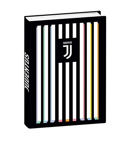 Scuola Diario Juve Standard Seven 2021 – 2022 + llavero silbato + marcapáginas + bolígrafo con purpurina