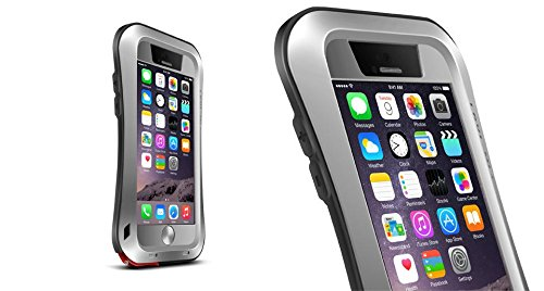 iPhone 6 Case, Ambox Shockproof Dustproof Waterproof Aluminum Alloy Metal Tempered Glass Cover Case for Apple iPhone 6 / 6s 4.7 inch