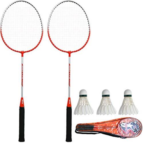 Xiaoyue 100{609026e788584a2e04d3920767a187ffa0924dabb4250753ddf4cd609944cc16} Vollcarbonfaser-Hochspannungs Schnur Badmintonschläger, Profi-Wettbewerb Design Welle Badmintonschläger, Leicht Graphite Einzelbadmintonschläger Badmintontasche. lalay (Color : Orange)