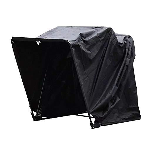 WQSFD Garage Pieghevole per Moto in Argento Oxford 600D 345x135x190CM Pieghevole Garage Tenda con Cornice Mtallica Garage Telone di Prorezione...