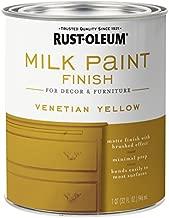Rust-Oleum 334195 Milk Paint Finish, Quart, Venetian Yellow