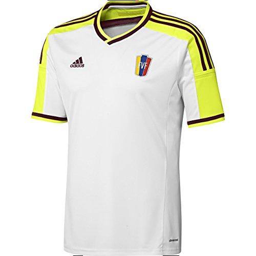adidas Herren Venezuela Trikot Away 2014/2015 Nationalmannschaften, weiß/Neongelb, S-46