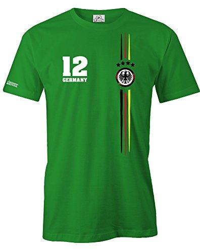 Jayess Deutschland Logo RUND - WM 2018 - DLEUXE - Herren T-Shirt in Grün by Gr. XXXL