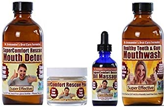 Gum Disease Help! COMPLETE DENTAL RESCUE KIT – MODERATE to SERIOUS problems - Helps reduce gum recession, gingivitis, bleeding, sensitivity, inflammation, plaque, lichen planus, toothache, root canals