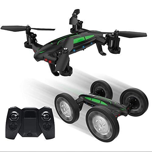 HBBOOI Remote Control Mode Macchina Volante Drone Terra e Aria Doppio Hover Drone Alta Quota Shooting Telecomando Portatile Built-in 14 Night Lights Navigazione Raffreddare Scorrimento 3D