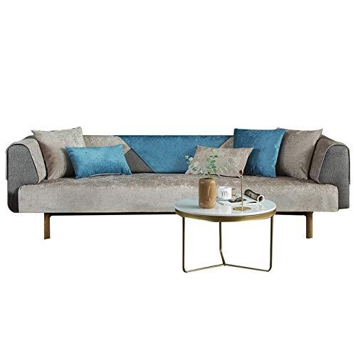 YLiansong-home Super Stretch Sofá Funda Cubierta de Toallas Four Seasons Universal Color Sólido CHENILE Sofá Cojín Moderno Simple Simple Tela Antideslizante Sofá Protector de sofá Funda