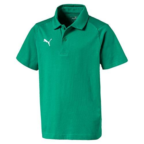 Puma Kinder Liga Casuals Polo Poloshirt, Pepper Green White, 128