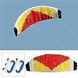 Huangwanru Cometa Surf Beach paracaídas Vela/Tela de Nylon de 2 líneas Parafoil Cometa del Truco Gran Juguete al Aire Libre (Color : Multi-Colored, Size : One Size)