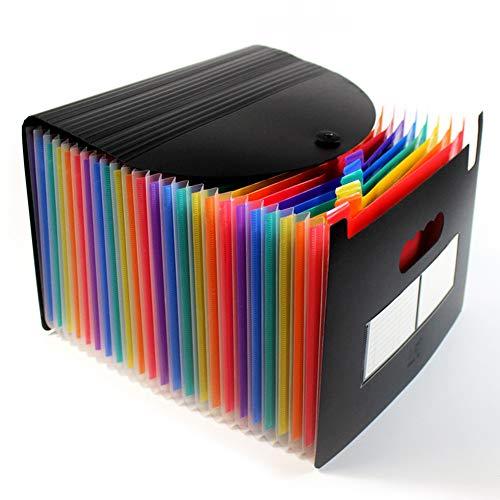 24 Tasche Raccoglitore Documenti Espandibile,A4 Cartellina Porta Documenti/Organizzatore Portadocumenti Da Scrivania,Multicolore Fisarmonica Faldoni Per Ufficio Scuola Casa Viaggio (Colore)