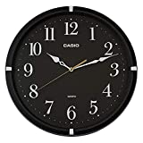 CASIO(カシオ) 掛け時計 ブラック 直径33.1cm アナログ 連続秒針 IQ-88-1JF