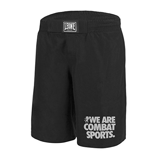 Leone 1947 AB795 Pantalones Cortos de MMA, Unisex – Adulto, Negro, L
