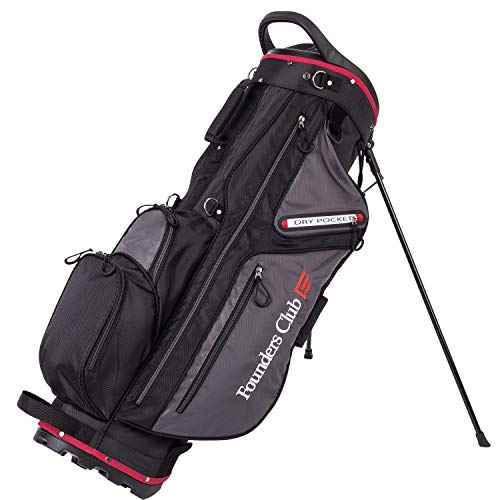 Founders Club Golf Stand Bag for Walking Carrying 14 Way Organizer Top Shaft Lock (Charocal)