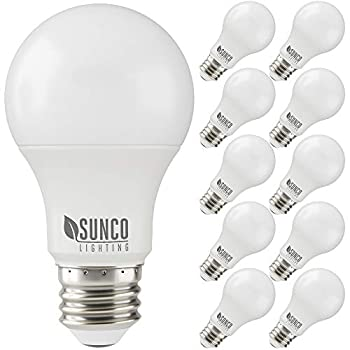 Sunco Lighting 10 Pack A19 LED Bulb 3W=25W 3000K Warm White 250 LM Dimmable E26 Base Indoor Light - UL