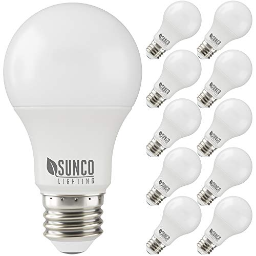 Sunco Lighting 10 Pack A19 LED Bulb, 3W=25W, 3000K Warm White, 250 LM, Dimmable, E26 Base, Indoor Light - UL