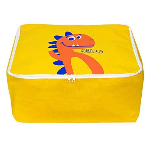 Kindergarten Quilt Storage Bag, Moisture-Proof Thick Bedding Quilt Bag, Portable Student Waterproof Packaging Bag 45 * 55 * 26Cm Yellow-Large