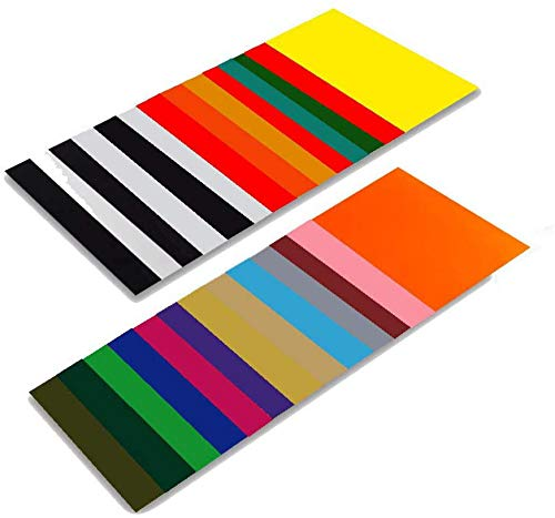 Heat Transfer Vinyl HTV Bundle Variety Pack Assortment for T Shirts Fabric 12x10' 26 Sheets Iron On Vinyl Colored Starter Kit for Silhouette Cameo and Cricut