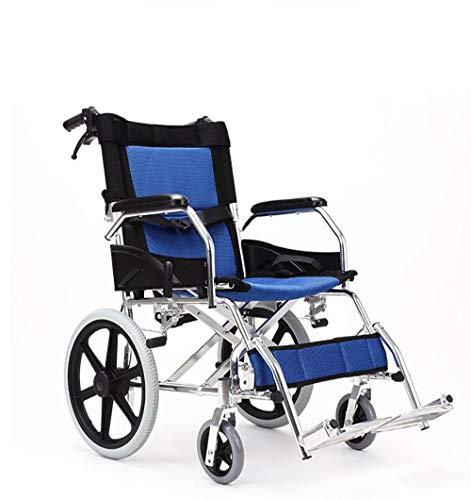 GAOJIN Rollstuhl Klappbar,Leichter Reiserollstuhl,Transportrollstuhl mit Bequemer Sitz,Rückenlehne,fußstützen reiserollstuhl Wheelchair rollator geeignet Für ältere Menschen,behinderte