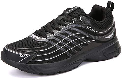 UBFEN Laufschuhe Herren Damen Turnschuhe Fitness Schuhe,44 EU,Schwarz