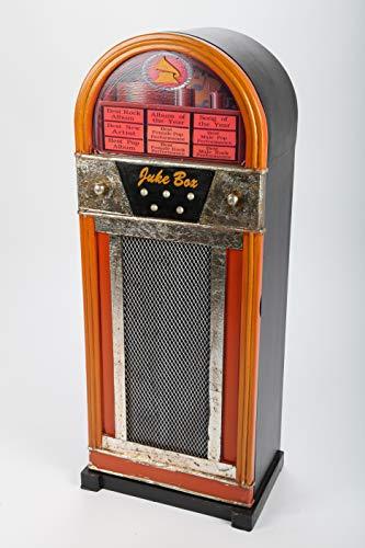point home Design-Schrank Jukebox, Retro, orange/schwarz, 88cm