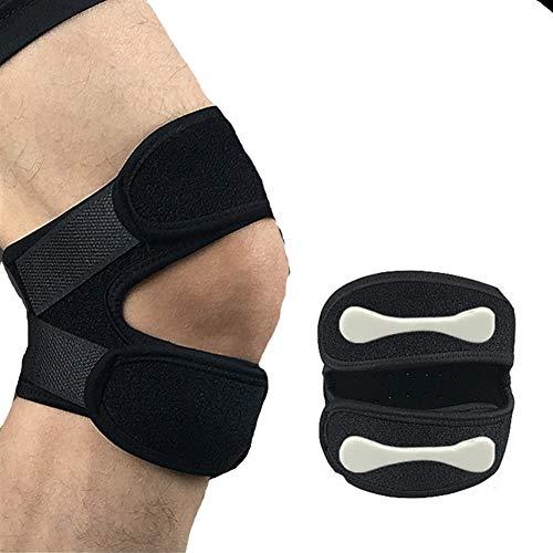 Kniebandage 1 STÜCKE Einstellbare Kniestütze Knie Patella Hülse Wrap Cap Stabilisator Sport Knie Atmungsaktive Schutz Patellar Gürtel Knee Active Plus (Color : Black)