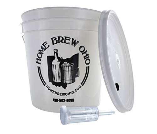 Home Brew Ohio FBA_Does Not Apply Complete 2 Gallon Fermenting Bucket, White