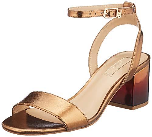 LIU JO Shoes Thelma 01-Sandal, Sandalias con Punta Abierta Mujer, Dorado (Brass S1805), 40 EU