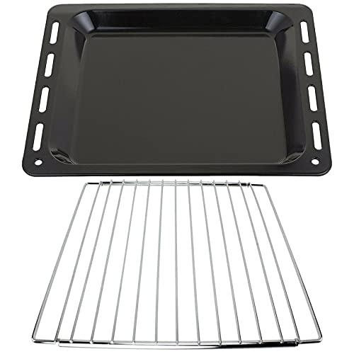 SPARES2GO Bandeja para hornear + estante extensible con brazo de bloqueo compatible con cocina de horno Whirlpool